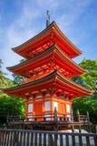 Pagoda at the kiyomizu-dera temple, Kyoto, Japan. Pagoda at the kiyomizu-dera temple, Gion, Kyoto, Japan Royalty Free Stock Images