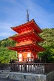 Pagoda at the kiyomizu-dera temple, Kyoto, Japan. Pagoda at the kiyomizu-dera temple, Gion, Kyoto, Japan Stock Images