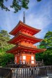 Pagoda at the kiyomizu-dera temple, Kyoto, Japan. Pagoda at the kiyomizu-dera temple, Gion, Kyoto, Japan Royalty Free Stock Photography