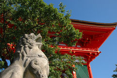 Pagoda. Kyoto. Japan. Central gate inthe Temple of clear water. Kyoto. Japan Royalty Free Stock Photo
