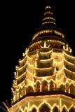 Pagoda la nuit image stock