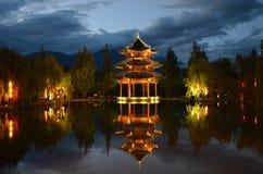 Pagoda la nuit Photos stock