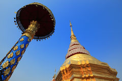 Pagoda, Lampang, Thailand. Pagoda of Wat Phrathat Lampangluang, the beautiful pagoda of Lampang province stock photography