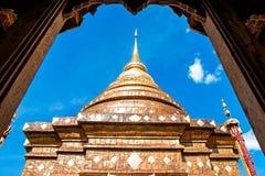 The Pagoda of Lampang under frame, Thailand Royalty Free Stock Photo