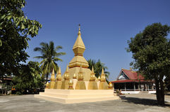 Pagoda Laos Local Gold Outdoor Rural Royalty Free Stock Photos