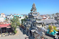 Pagoda Lin Fuok (Linh Phuoc) in Dalat, Vietnam Stock Image