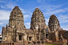 Pagoda in Lopburi of Thailand. Phra Prang Sam Yod Pagoda in Lopburi of Thailand Royalty Free Stock Photo
