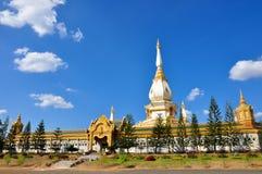 Pagoda Maha Sarakham Thailand. White pagoda Identity  in Maha Sarakham Thailand Royalty Free Stock Photography