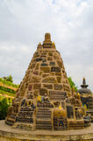Pagoda of Mahabodhi Temple in Bodhgaya India Stock Photography