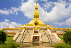 Pagoda Mahabua, Roi-Et, Thailand. Economic aspects pagoda in Thailand Stock Images