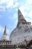 Pagoda Mahathat Woramahawihan (Famous Public Temple) in Nakhon S. I Thammarat, Thailand stock images