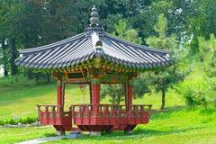 Pagoda for meditation in  city park Royalty Free Stock Photos