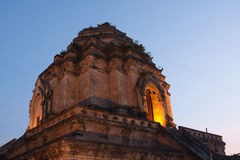 Pagoda meravigliosa Wat Chedi Luang Temple Fotografia Stock
