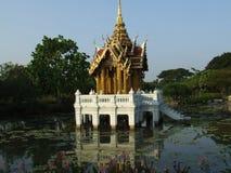 Pagoda middle lake. Pagoda Middle of lake rama 9 park thailand stock photography