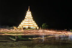 Pagoda midnight. Pagoda midning at chiang rai thailand royalty free stock image