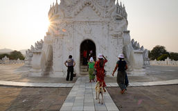 Pagoda Mingun di Hsinbyume a Mandalay, Myanmar fotografia stock libera da diritti