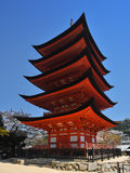Pagoda in Miyajima Royalty Free Stock Photo