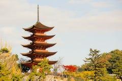 Pagoda at Miyajima Stock Photo