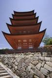 Pagoda a Miyajima, Giappone fotografia stock libera da diritti