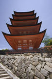 Pagoda in Miyajima, Japan Royalty Free Stock Photography