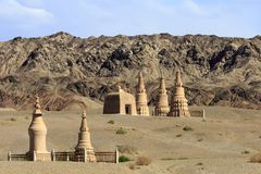 Pagoda in Mogao Caves, Dunhuang. China Stock Photo