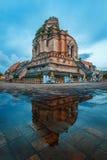 pagoda molto grande a Wat Jedi Luang Immagine Stock Libera da Diritti