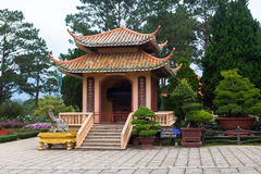 Pagoda in Monastery. Dalat. Vietnam. Royalty Free Stock Image