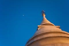Pagoda and moom. Royalty Free Stock Image