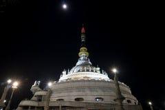 Pagoda with the Moon stock photos