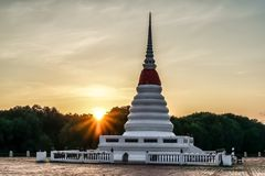 Pagoda in the morning stock images