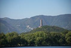 Pagoda on mountain Royalty Free Stock Photos
