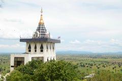Pagoda. On mountain with field background, Nakhonsawan, Thailand Stock Photos