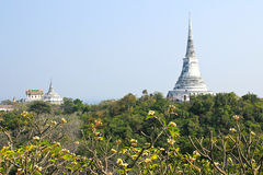 Pagoda on the mountain in Phra Nakhon Khiri ( Khao wang ) temple stock images