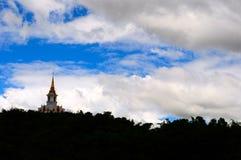 Pagoda on the mountain stock photo