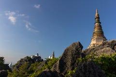 Pagoda on mountain top Stock Photography