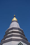Pagoda on the moutain,Doi Inthanon National Park, Thailand. Stock Photo