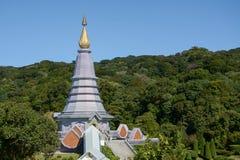 Pagoda on the moutain,Doi Inthanon National Park, Thailand. Stock Photography
