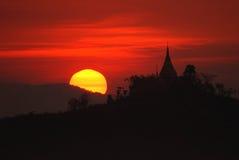 Pagoda in Mrauk U, Myanmar. Royalty Free Stock Images