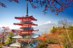 Pagoda and Mt. Fuji Stock Photography