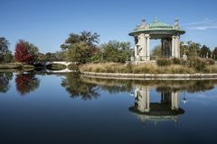 Pagoda Music bandstand, Pagoda Lake, Forest Park St Louis royalty free stock image