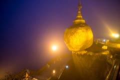 Pagoda Myanmar di Kyaiktiyo Fotografie Stock Libere da Diritti