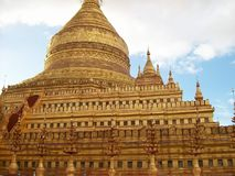 Pagoda Myanmar di Shwezigon Fotografia Stock