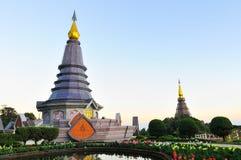 Pagoda na górze góry Obrazy Stock