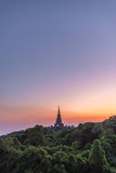 Pagoda na Inthanon górze Fotografia Stock