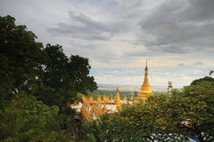 Pagoda na wzgórzu Obraz Royalty Free