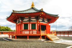Pagoda at Naritasan Shinshoji temple, Narita, Japan. Temple is p. Narita, Japan 17 March, 2018: Prince Shotoku Hall at Naritasan Temple in Narita, Japan. Narita royalty free stock images