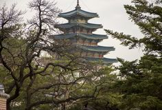 Pagoda of the National Folk Museum stock image