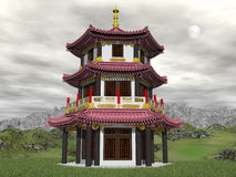 Pagoda in nature - 3D render Stock Image