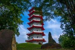 Pagoda nel parco di Singapore Fotografia Stock