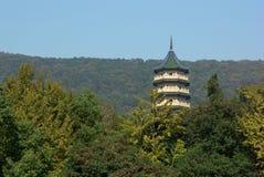 Pagoda nella foresta di Nanjing Fotografia Stock Libera da Diritti